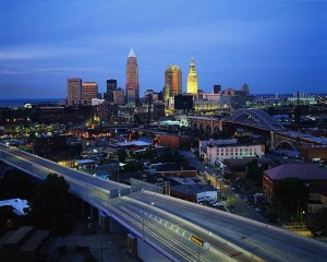 A view of Cleveland
